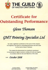 Certificate of outstanding outstanding performance certificate